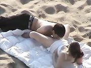 Couple caught doing sex on beach