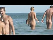 Nudist beach many nudist couples filmed on voyeur camera